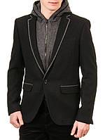 Пиджак мужской с капюшоном AVVA A32 4111 черный