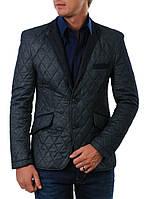 Пиджак мужской стеганный Soul&Сity 4420 темно-синий