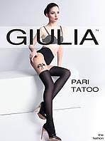 Колготки имитация чулка Giulia 60Den PARI TATOO  с татуировкой