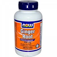 Корень имбиря, 100 капс 550 мг для похудения, здорового пищеварения, для печени Now Foods