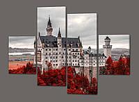 Панно из частей Белый Замок Нойшванштайм.Германия 120*93 см Код: 337.4к.120