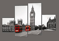 Модульная картина Вестминстерский Дворец. Лондон 160*114 см Код: 257.4k.160
