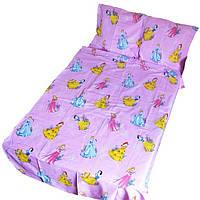 Постельное белье детское в кроватку Gold феи на розовом