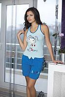 Женская пижама, костюм для дома майка и шорты Angel Story 4070