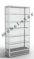 Шкаф витрина для магазина из алюминиевого профиля