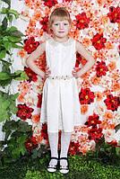Нарядное платье с поясом декорированный цветами, фото 1
