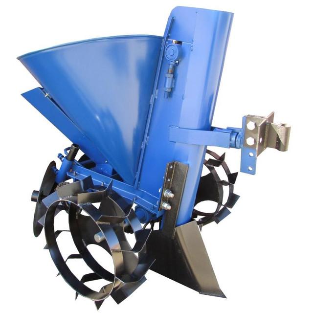 Картофелесажалка цепная (регулировка шага, без транспорт. колес, +бункер для удобрений) - фото 1
