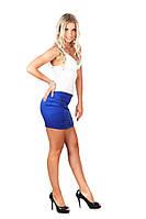 Эффектная женская мини-юбка 308 от производителя Синий