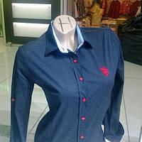 Рубашка в горошек горох женская POLO 02