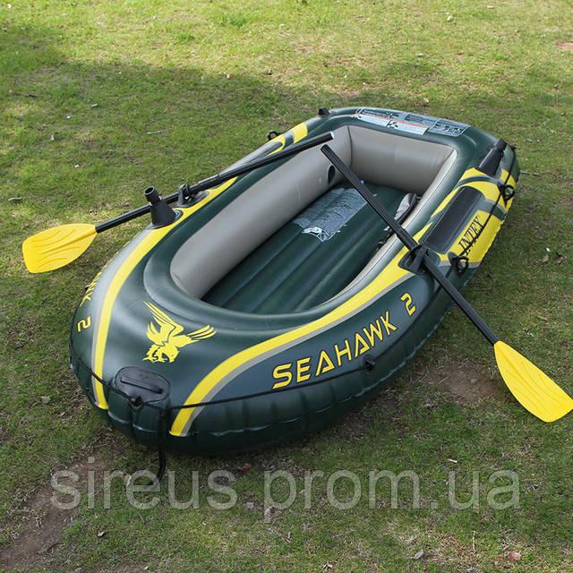 надувная лодка intex seahawk 2 с веслами 68347