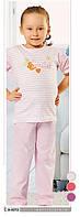 Пижама детская для девочек в полоску Smiles