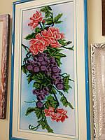 Картина бисером Панно с виноградом (Рикамо)
