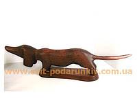 Деревянная статуэтка Такса, оригинальный подарок