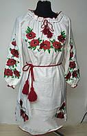 Женское вышитое платье Мак