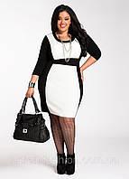 Деловое трикотажное платье от производителя для роскошной женщины