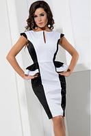 Черно-белое трикотажное платье от производителя