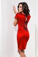 Красное платье-футляр от производителя