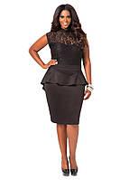 Оригинальное деловое  платье для полных женщин