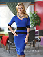 Стильное женское трикотажное платье для офиса