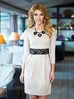 Милое трикотажное женское платье от производителя
