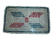 Коврик плетенный 45 х 75 см с рисунком
