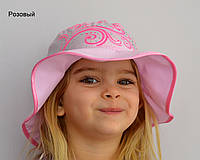 Детская летняя шапочка Панамка Келли. р. 50-52 и 52-54. Белые, розовые, сиреневые.