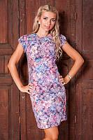 Очень красивое женское платье из жаккардовой ткани 895 Сиреневое