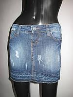 Джинсовая юбка | Мини с карманами
