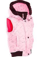 Розовая детская жилетка (демисезон)