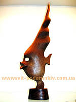 Статуэтка Рыба скалярия, сувенир из дерева