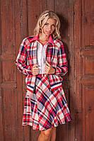 Модный женский костюм в клетку юбка+кофта 2027 опт и розница