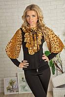 Красивая нарядная женская блуза 917 Леопардовый принт