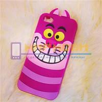 Чехол-бампер силиконовый Apple iphone 4 4S 4G Чеширский Кот