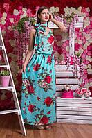 Сарафан длинный в цветочек 3037