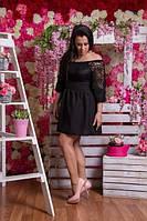 Платье батал,верх гипюр 03016
