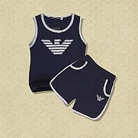 Детский летний комплект костюм Армани ARMANI футболка и шорты для мальчика