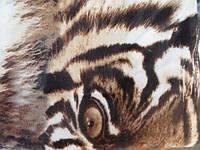 Двуспальный плед облегченный микрофибра - тигр