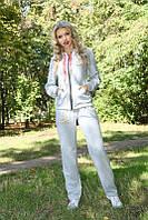 Качественный женский спортивный костюм 3003 Светло-серый