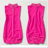 Нарядная женская рубашка розового цвета