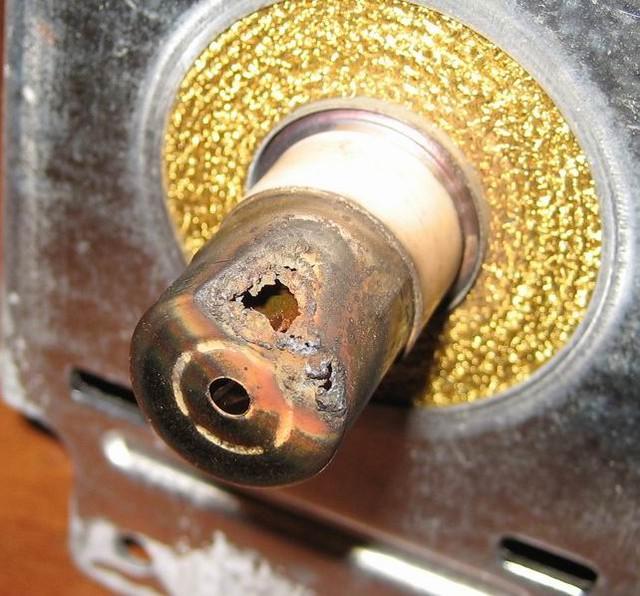 Ремонт колпачка магнетрона микроволновки своими руками 9