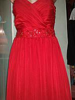Платье на выпусной,красное,макси.р.44-46.