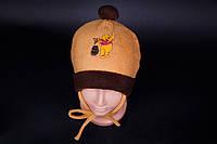 Шапка детская флисовая Винни Пух. Разные цвета