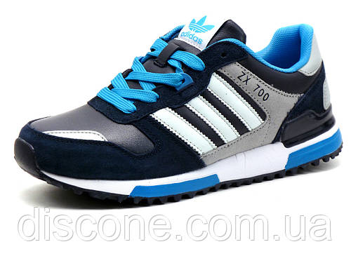 Кроссовки Adidas ZX 700 унисекс, комбинированные, кожа/ замша