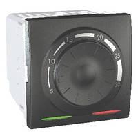 Термостат кондиционирование и отопление 8А +5...30°С Графит Schneider Electric Unica (MGU3.501.12)