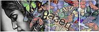 "Схема для вышивки бисером Триптих ""Бабочки"""