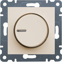 Светорегулятор поворотный диммер LUMINA2 Hager крем WL4011