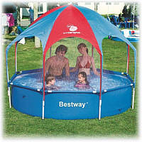 Детский бассейн каркасный Bestway 56193 (∅ 2,4 м, каркасный с тентом)