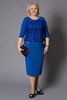 """Женское платье больших размеров """"Даниэль"""" Артикул: М147 корал, бирюза, темно-синий, электрик (В.Л.Н)"""