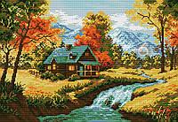 Набор для вышивки крестом Осенний пейзаж. Размер: 33*23 см