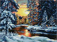 Набор для вышивки крестом Зимний вечер. Размер: 57*41 см